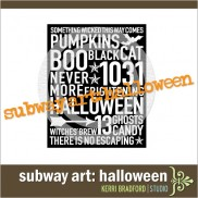 Subway Art: Halloween