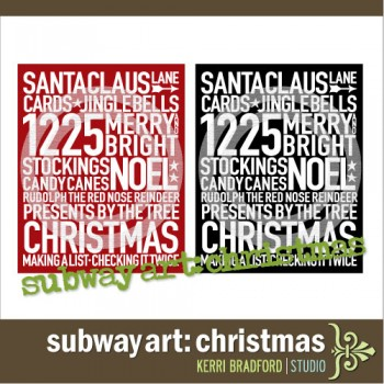 Subway Art: Christmas
