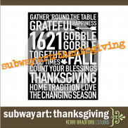 Subway Art: Thanksgiving