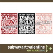Subway Art: Valentine