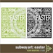 Subway Art: Easter