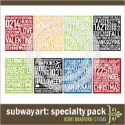 Subway Art: Specialty Pack