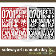 Subway Art: Canada Day