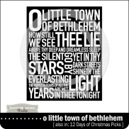 Subway Art: O Little Town of Bethlehem