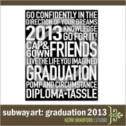 Subway Art: Graduation 2013
