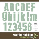 Weathered Door Alphabet