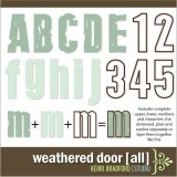 Weathered Door Alphabet [All]