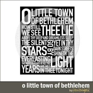 Subway Art: O Little Town of Bethlehem-0