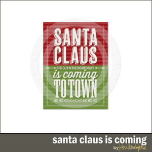 Santa Claus Is Coming To Town Card-0