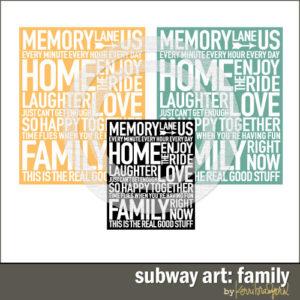 Subway Art: Family-0