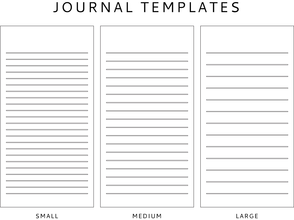 Journal Template Freebie + The Seeing The U.S. Of A. For All Its Beauty