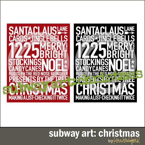 Christmas Subway Art.Subway Art Christmas