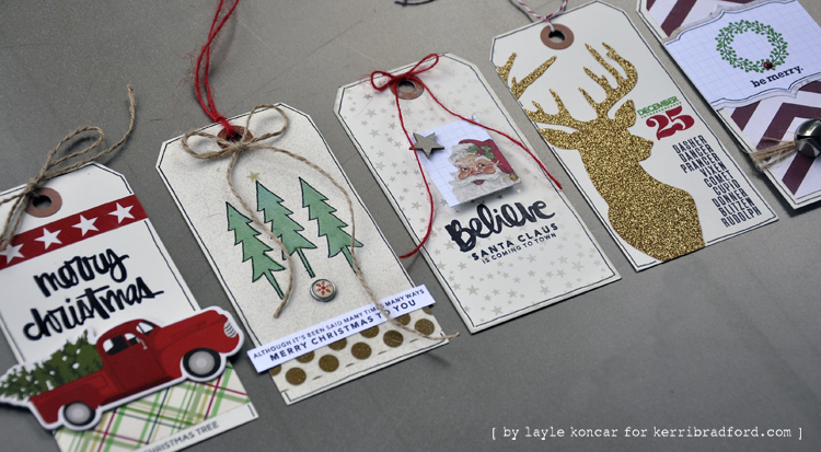 christmas stamp tags