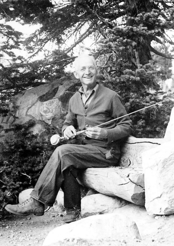 Aug. 1945 William Rudolph Gierisch at Redfish Lake, Idaho.