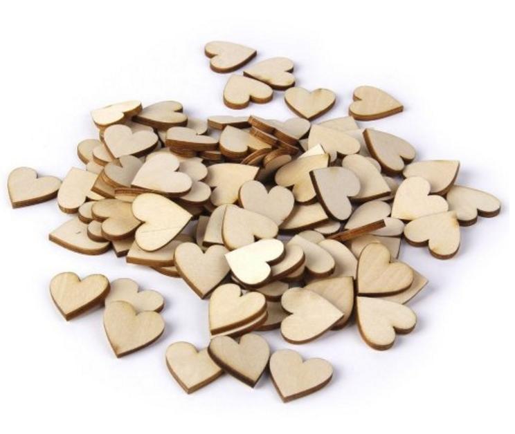 love heart frame wooden hearts