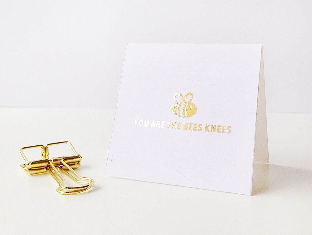 bees knees card web