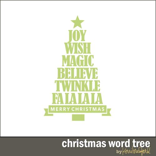 Christmas Word Tree Kerri Bradford Studio